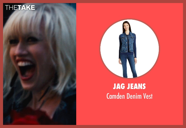 Jag Jeans blue vest from If I Stay seen with Mireille Enos (Kat Hall)