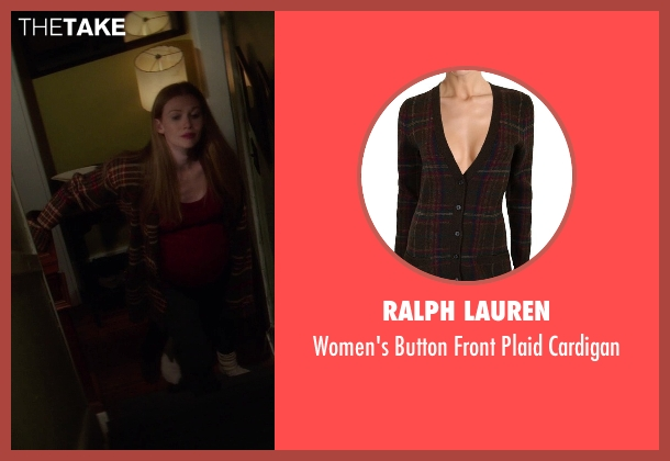 Ralph Lauren brown cardigan from If I Stay seen with Mireille Enos (Kat Hall)