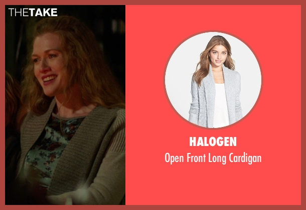 Halogen gray cardigan from If I Stay seen with Mireille Enos (Kat Hall)