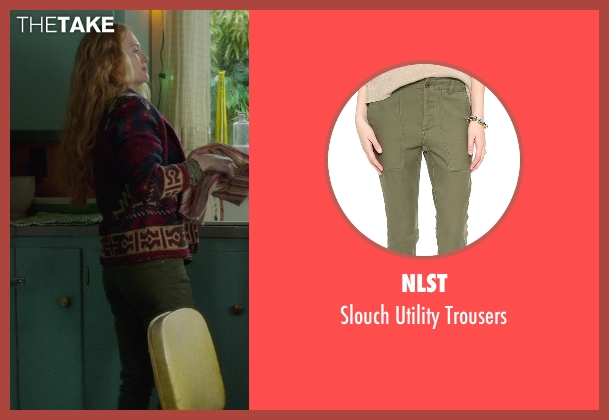NLST green trousers from If I Stay seen with Mireille Enos (Kat Hall)