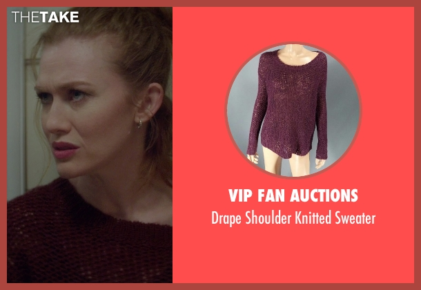 VIP Fan Auctions purple sweater from If I Stay seen with Mireille Enos (Kat Hall)