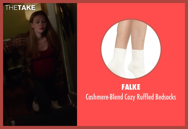 Falke white bedsocks from If I Stay seen with Mireille Enos (Kat Hall)