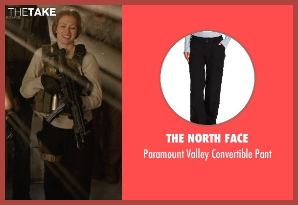 The North Face black pant from Sabotage seen with Mireille Enos (Lizzy Murray)