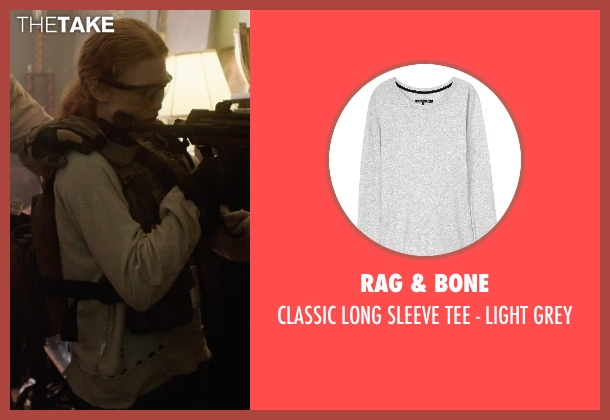Rag & Bone gray grey from Sabotage seen with Mireille Enos (Lizzy Murray)