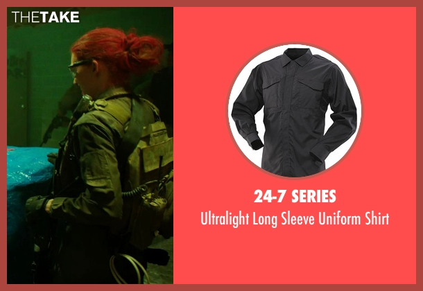 24-7 Series shirt from Sabotage seen with Mireille Enos (Lizzy Murray)