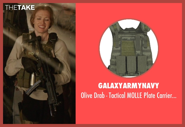 galaxyarmynavy vest from Sabotage seen with Mireille Enos (Lizzy Murray)