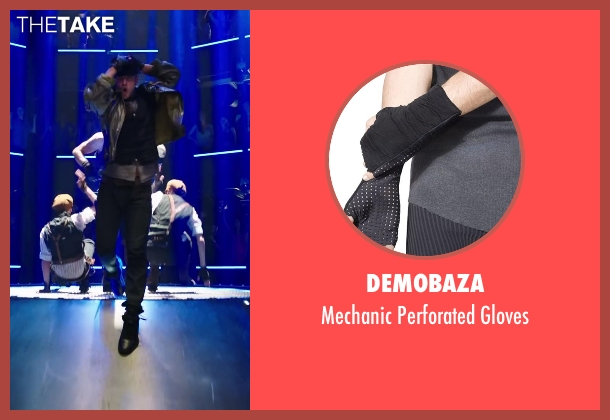 Demobaza black gloves from Step Up: All In seen with Misha Gabriel Hamilton (Eddy)