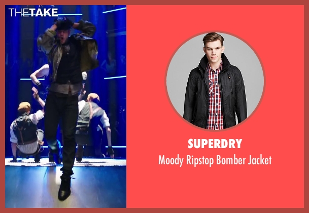 Superdry black jacket from Step Up: All In seen with Misha Gabriel Hamilton (Eddy)