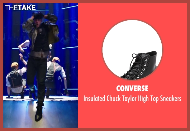Converse black sneakers from Step Up: All In seen with Misha Gabriel Hamilton (Eddy)