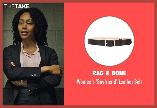 Rag & Bone black belt from Marvel's Luke Cage seen with Misty Knight (Simone Cook)
