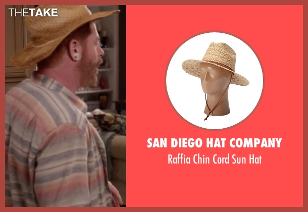 San Diego Hat Company beige hat from Modern Family seen with Mitchell Pritchett (Jesse Tyler Ferguson)