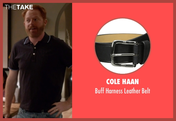 Cole Haan black belt from Modern Family seen with Mitchell Pritchett (Jesse Tyler Ferguson)