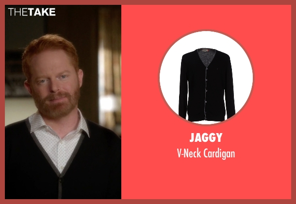 Jaggy black cardigan from Modern Family seen with Mitchell Pritchett (Jesse Tyler Ferguson)