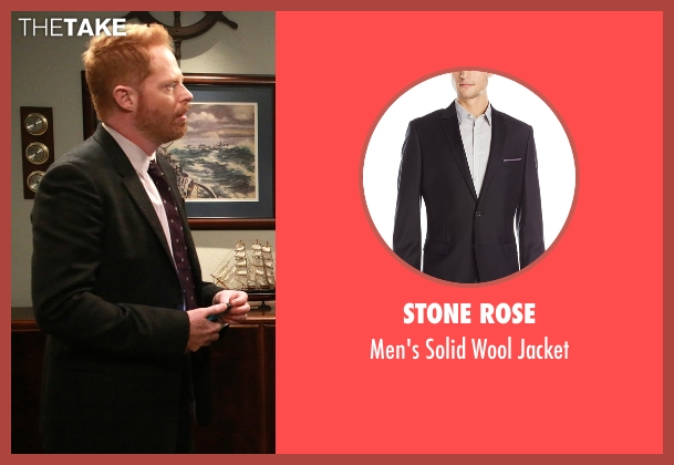 Stone Rose black jacket from Modern Family seen with Mitchell Pritchett (Jesse Tyler Ferguson)