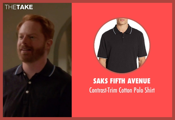 Saks Fifth Avenue black shirt from Modern Family seen with Mitchell Pritchett (Jesse Tyler Ferguson)