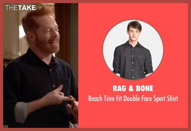 Rag & Bone black shirt from Modern Family seen with Mitchell Pritchett (Jesse Tyler Ferguson)