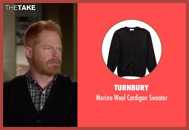 Turnbury black sweater from Modern Family seen with Mitchell Pritchett (Jesse Tyler Ferguson)