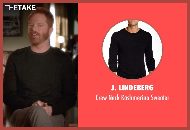 J. Lindeberg black sweater from Modern Family seen with Mitchell Pritchett (Jesse Tyler Ferguson)