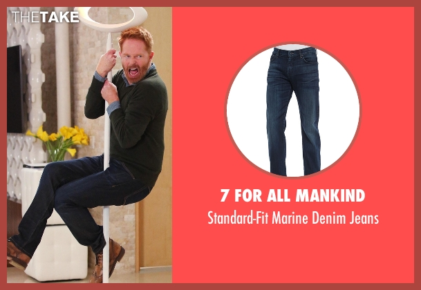 7 For All Mankind blue jeans from Modern Family seen with Mitchell Pritchett (Jesse Tyler Ferguson)