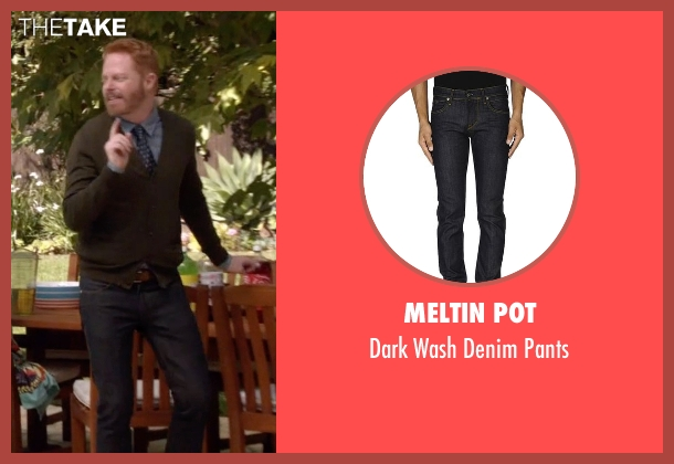 Meltin Pot blue pants from Modern Family seen with Mitchell Pritchett (Jesse Tyler Ferguson)