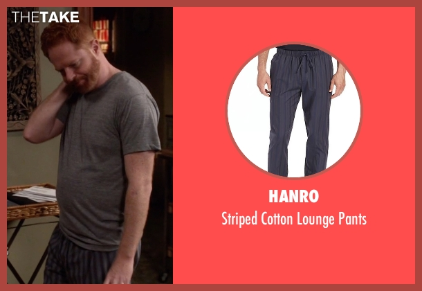 Hanro blue pants from Modern Family seen with Mitchell Pritchett (Jesse Tyler Ferguson)