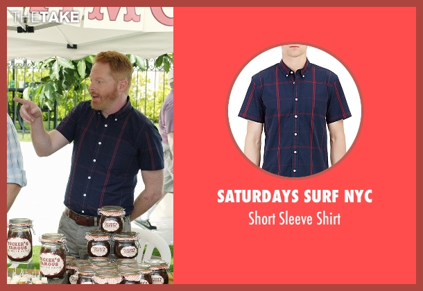 Saturdays Surf NYC blue shirt from Modern Family seen with Mitchell Pritchett (Jesse Tyler Ferguson)