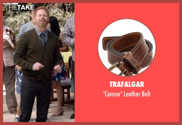 Trafalgar brown belt from Modern Family seen with Mitchell Pritchett (Jesse Tyler Ferguson)
