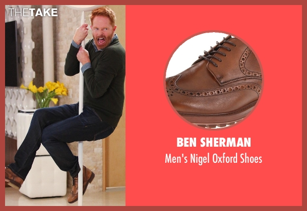 Ben Sherman brown shoes from Modern Family seen with Mitchell Pritchett (Jesse Tyler Ferguson)