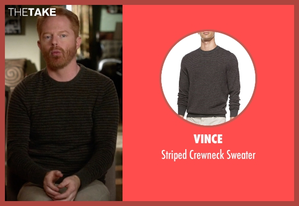 Vince gray sweater from Modern Family seen with Mitchell Pritchett (Jesse Tyler Ferguson)