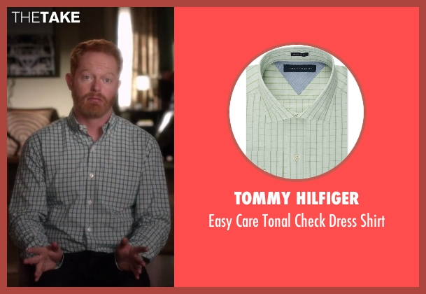 Tommy Hilfiger green shirt from Modern Family seen with Mitchell Pritchett (Jesse Tyler Ferguson)