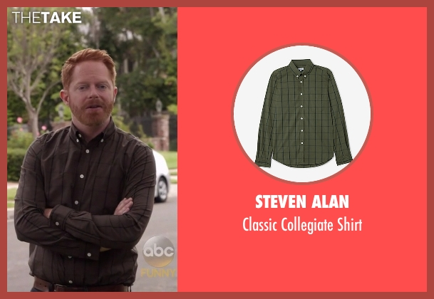 Steven Alan green shirt from Modern Family seen with Mitchell Pritchett (Jesse Tyler Ferguson)