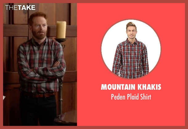 Mountain Khakis red shirt from Modern Family seen with Mitchell Pritchett (Jesse Tyler Ferguson)