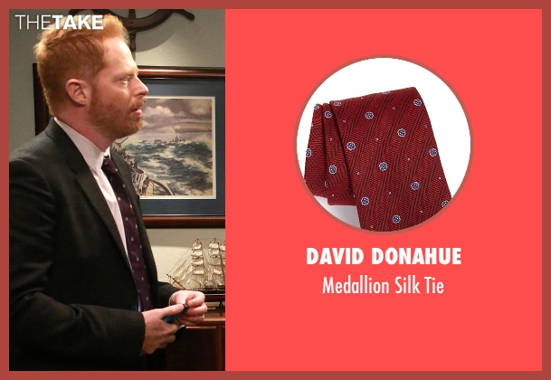 David Donahue red tie from Modern Family seen with Mitchell Pritchett (Jesse Tyler Ferguson)