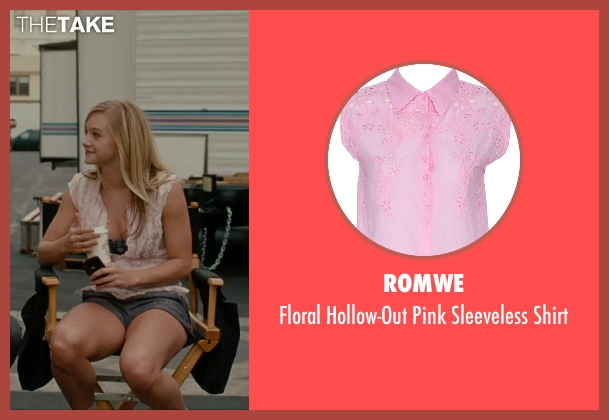 Romwe pink shirt from No Strings Attached seen with Mollee Gray (Sari)