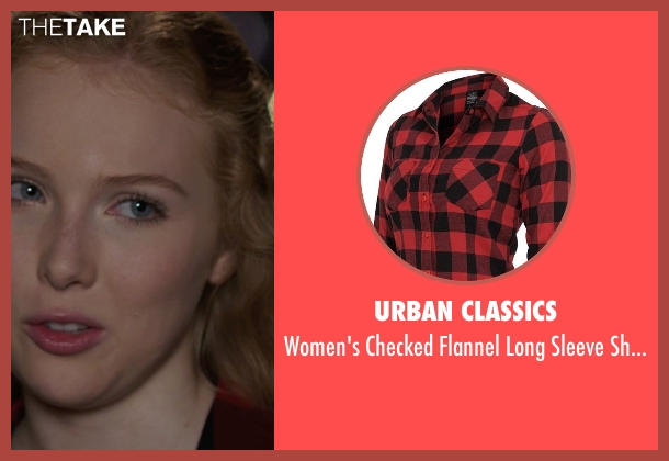 Urban Classics red shirt from We're the Millers seen with Molly C. Quinn (Melissa Fitzgerald)