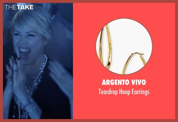 Argento Vivo gold earrings from Jem and the Holograms seen with Molly Ringwald (Mrs. Bailey)