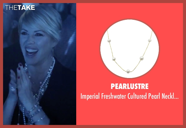 PearLustre gold necklace from Jem and the Holograms seen with Molly Ringwald (Mrs. Bailey)