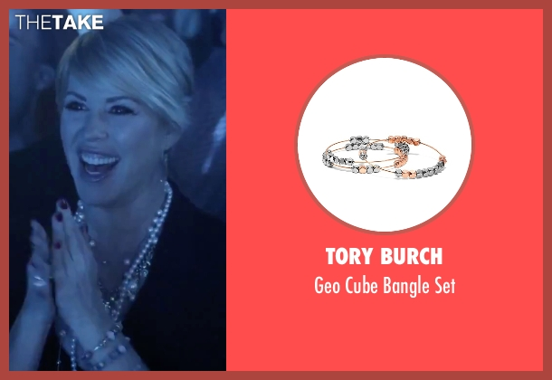 Tory Burch silver set from Jem and the Holograms seen with Molly Ringwald (Mrs. Bailey)
