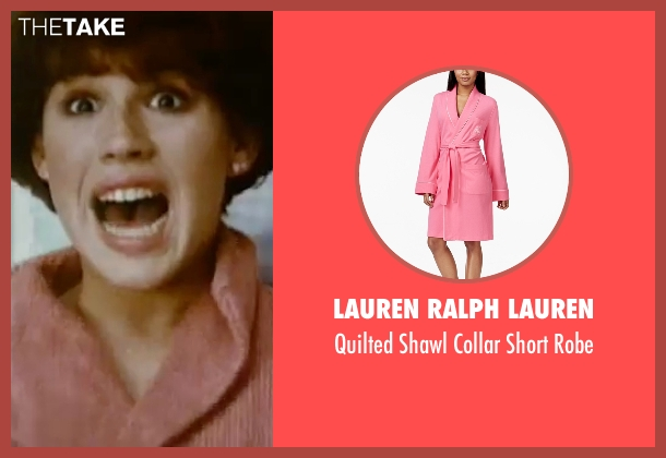 Lauren Ralph Lauren pink robe from Sixteen Candles seen with Molly Ringwald (Samantha Baker)