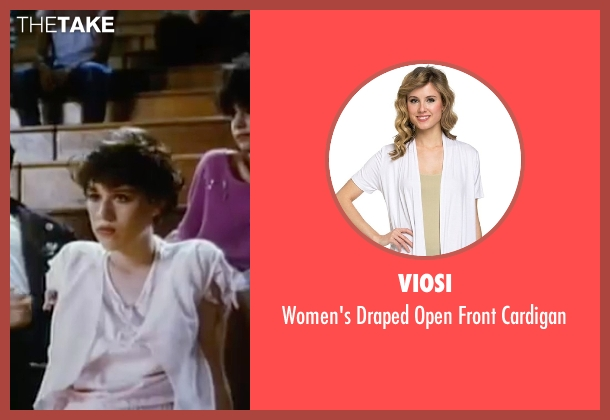 Viosi white cardigan from Sixteen Candles seen with Molly Ringwald (Samantha Baker)