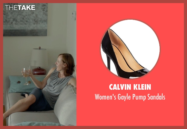 Calvin Klein black sandals from Me and Earl and the Dying Girl seen with Molly Shannon (Denise Kushner)
