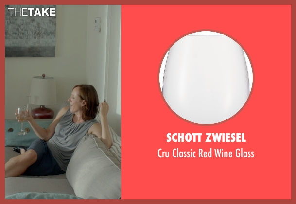 Schott Zwiesel glass from Me and Earl and the Dying Girl seen with Molly Shannon (Denise Kushner)