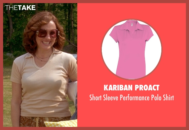 Kariban Proact pink shirt from Wet Hot American Summer seen with Molly Shannon (Gail von Kleinenstein)