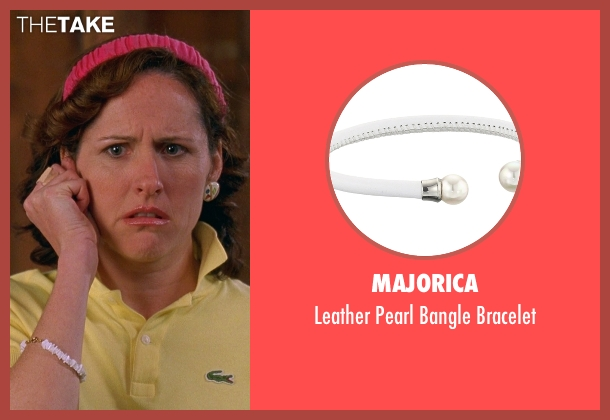 Majorica white bracelet from Wet Hot American Summer seen with Molly Shannon (Gail von Kleinenstein)