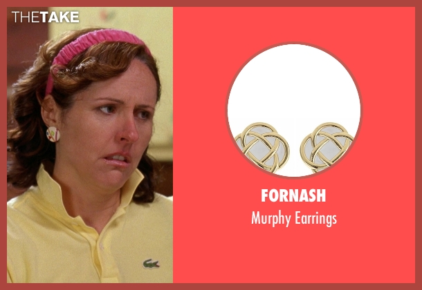 Fornash white earrings from Wet Hot American Summer seen with Molly Shannon (Gail von Kleinenstein)