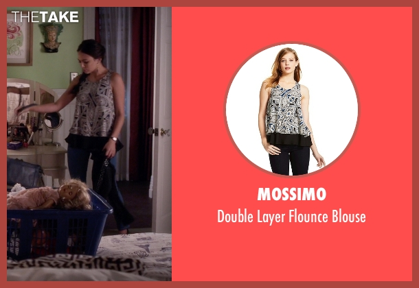 Mossimo black blouse from Pretty Little Liars seen with Mona Vanderwaal  (Janel Parrish)