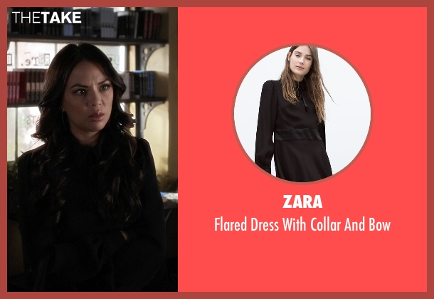 Zara black bow from Pretty Little Liars seen with Mona Vanderwaal  (Janel Parrish)