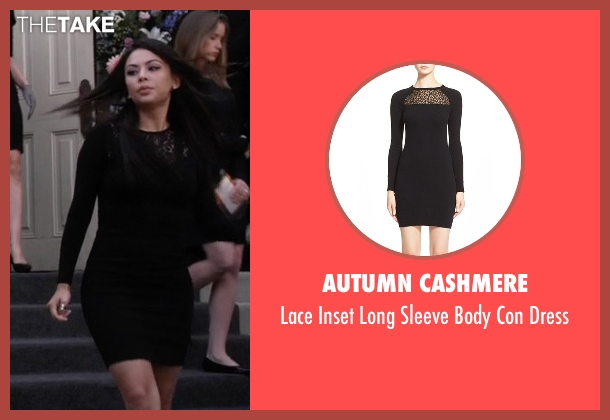 Autumn Cashmere black dress from Pretty Little Liars seen with Mona Vanderwaal  (Janel Parrish)
