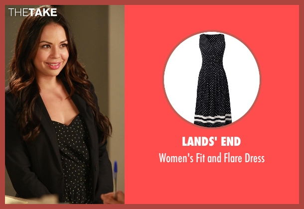 Lands' End black dress from Pretty Little Liars seen with Mona Vanderwaal  (Janel Parrish)