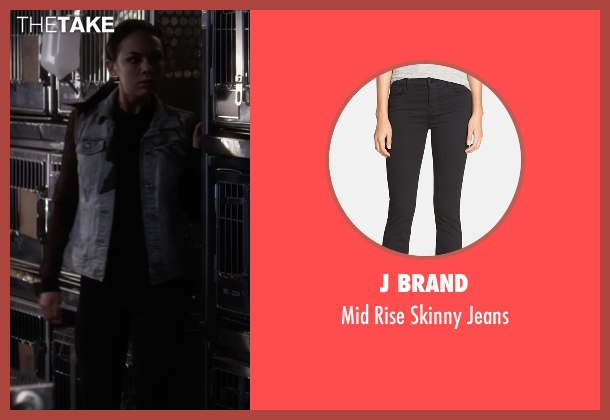 J Brand black jeans from Pretty Little Liars seen with Mona Vanderwaal  (Janel Parrish)